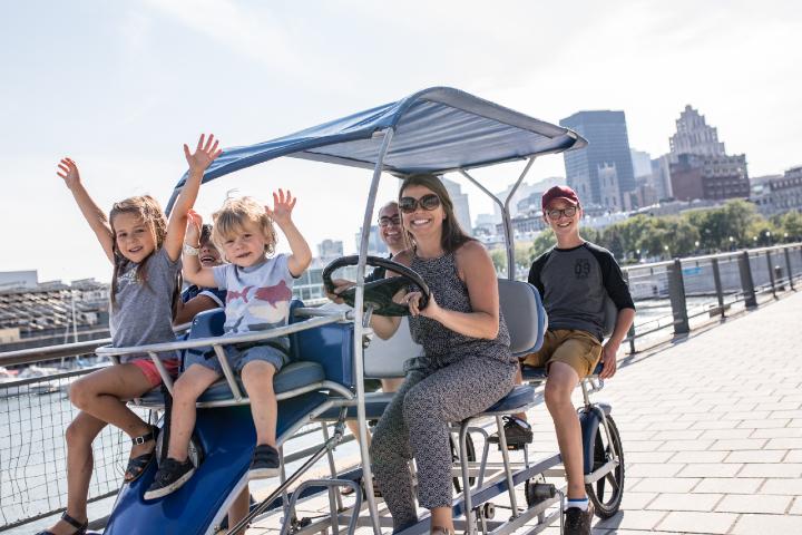 Quadricycle au Vieux-Port de Montréal