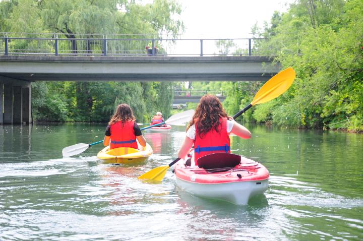 Visite kayak parc Jean-Drapeau